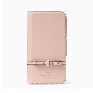 Kate Spade Elliott Street Folio iPhone X Case